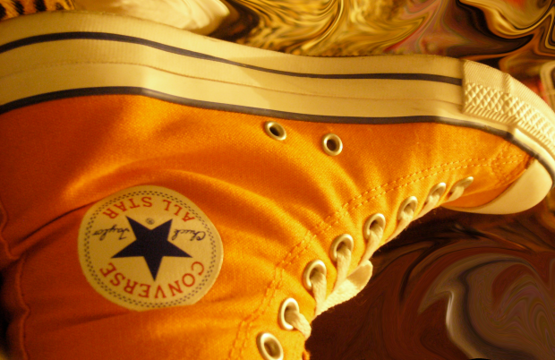 cropped converse