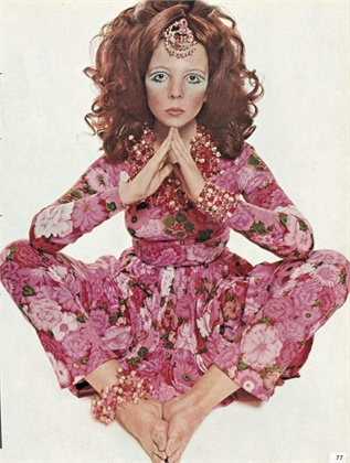 Hippie Couture - Dress by Ken Scott photographed by David Bailey for Vogue Italia, 1969