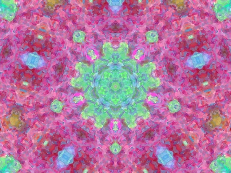 pink garden party painterly mandala